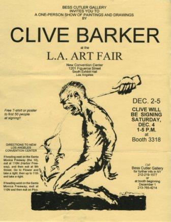 Clive Barker at the Los Angeles 1993 Art Fair
