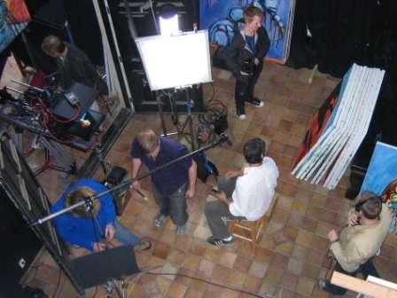 Joe Berlinger - set-up for filming Clive at home, April 2009