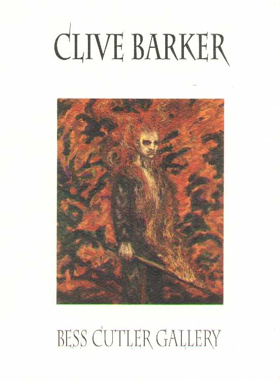 Clive Barker at the Bess Cutler Gallery