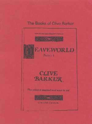 The Books Of Clive Barker