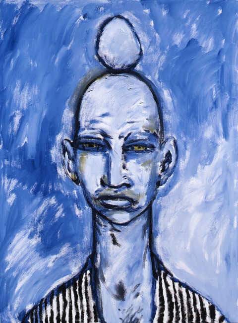 Clive Barker - Blue Man With Egg On Head