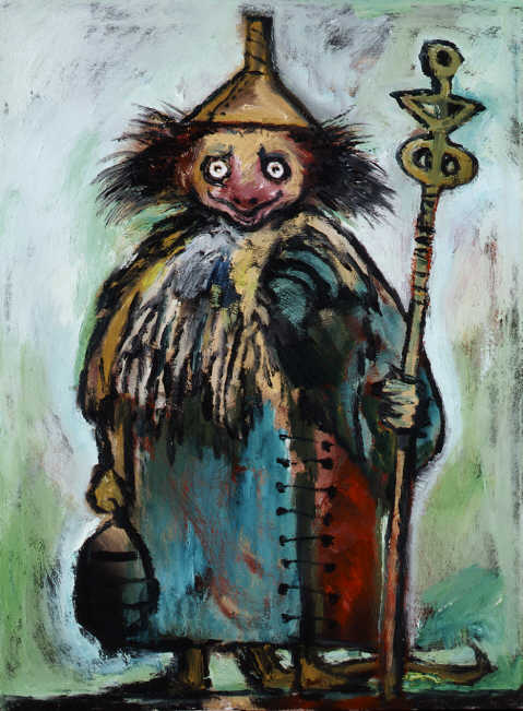 Clive Barker - Boschian Woman With Funnel Hat