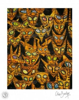 Clive Barker - Tarrie Cats print