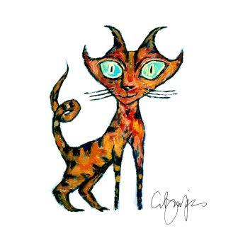 Clive Barker - Tarrie Cat print