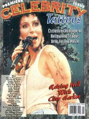 "Celebrity Tattoos, No 1, 1993 ""I have seen some really extraordinary tattoos"