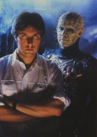 Clive with Doug Bradley for Hellraiser promotion