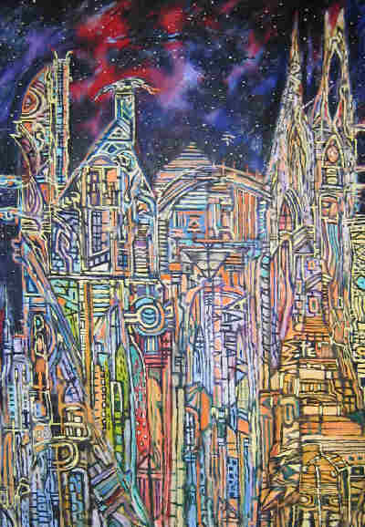 Clive Barker - Detail from Commexo City