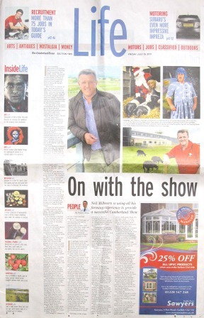 The Cumberland Times, Life section, 15 July 2011