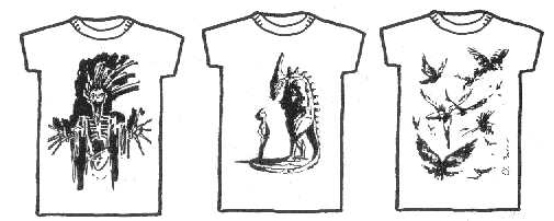 Dread T Shirts - designs 1, 2 and 3