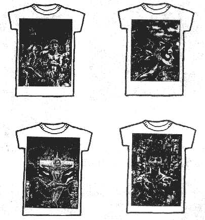 Dread T Shirts - designs 14, 15, 16 and 17