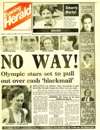 Evening Herald, Ireland, 8 September 1988