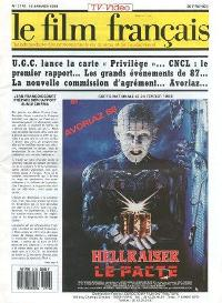 Le Film Francais - No 2176, 15 January 1988