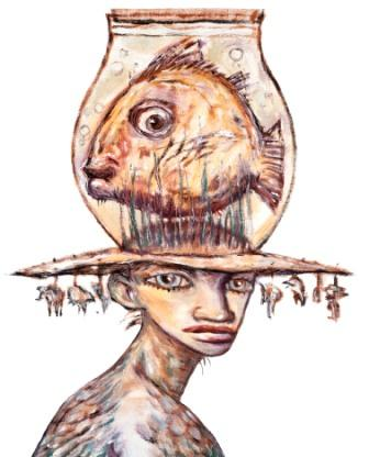 Clive Barker - Woman with Fish Hat