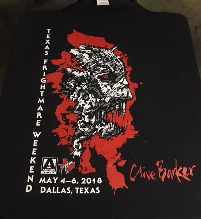 Clive Barker - Frightmare tee