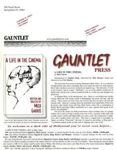 Gauntlet Press newsletter