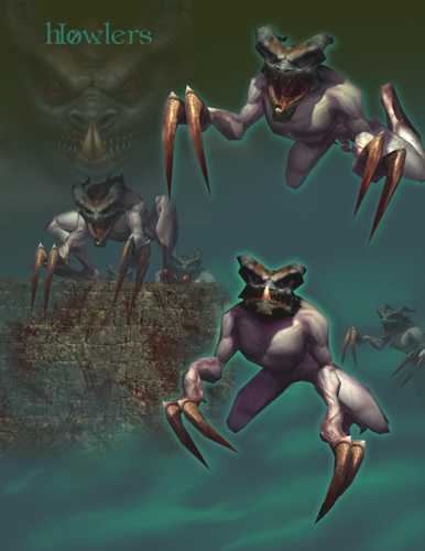 Undying Concept Art by Brian Horton - Howlers