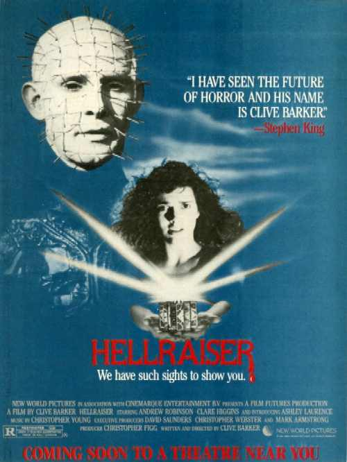 Press advert for Hellraiser's US opening