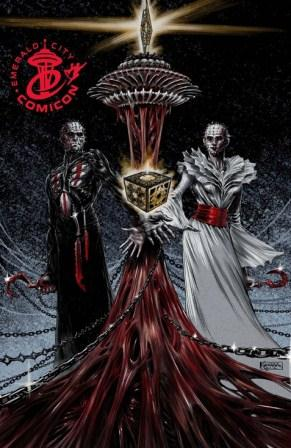 Clive Barker - Hellraiser Issue 10 - Emerald City cover, Lukas Ketner art