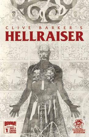 Clive Barker - Hellraiser Issue 1 - Larry's Comics cover, Bradstreet art