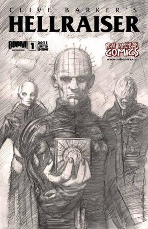 Clive Barker - Hellraiser Issue 1 - New Dimension Comics back cover, Percival art