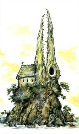 Clive Barker - Church with dragon-skull steeples