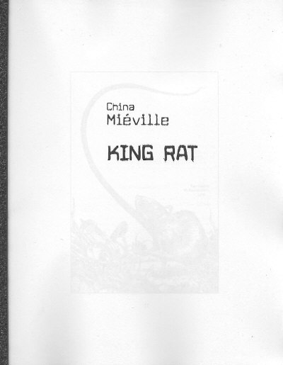 King Rat - Earthling Publications, 2005 proof
