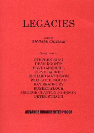 Legacies - paperback proof, 2001