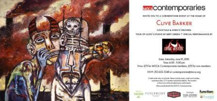 Clive Barker's MOCA Contemporaries Event, Los Angeles