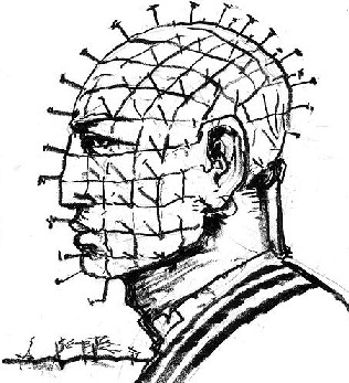 Sketch of Pinhead by Clive Barker, 2005