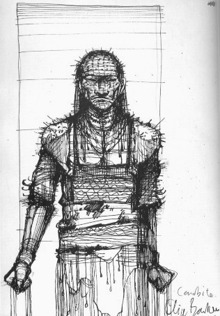 Early Sketch of Pinhead by Clive Barker