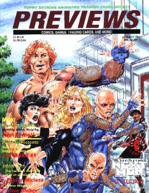 Previews,Volume 3 No 1, January 1993