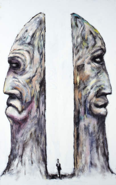 Clive Barker - Man With Profile Statues