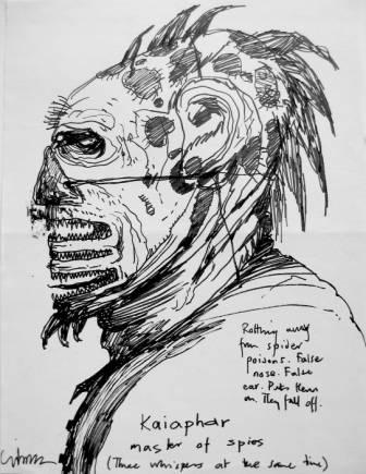 Clive Barker - Original drawing of Kaiaphar