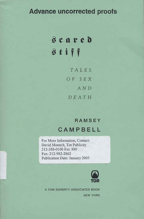 Scared Stiff by Ramsey Campbell, 2002 US proof