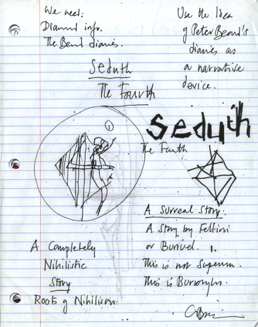Clive Barker - notes for Seduth 8