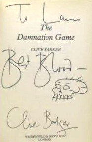 Clive Barker - The Damnation Game, UK