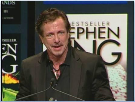 Clive Barker speaks at CBA Libris Awards - Stephen King