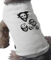 Clive Barker - Skulls - Tee shirt for dogs...