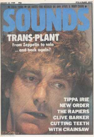 Sounds, 31 August 1985