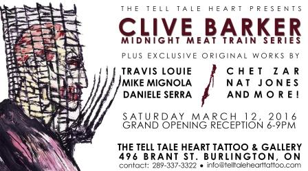Clive Barker: at The Tell Tale Heart Tattoo & Gallery