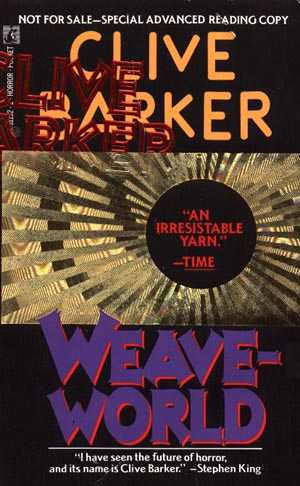 Clive Barker - Weaveworld - US ARC (with mispelling)