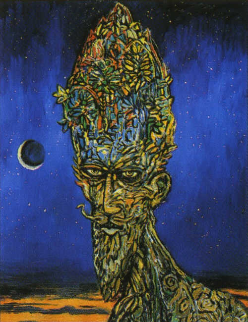 Clive Barker - Old Man With Flowering Head