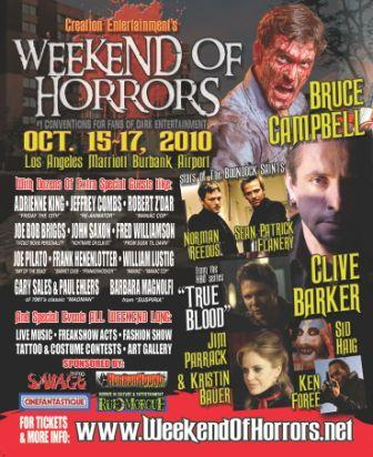 Clive Barker at Weekend of Horrors