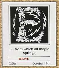 Weaveworld teaser, October 1987
