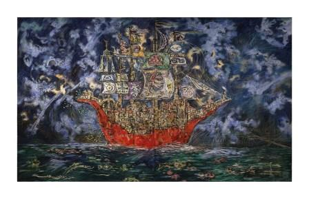 Clive Barker - City on a Red Boat print