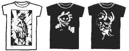 Dread T Shirts - designs 10, 11 and 12