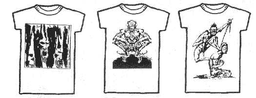 Dread T Shirts - designs 4, 5 and 6