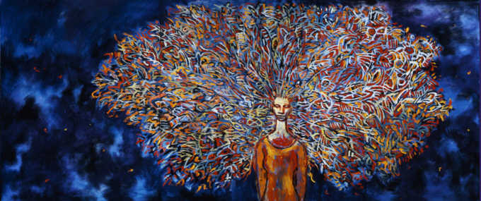 Clive Barker - Woman With Peacock Hair
